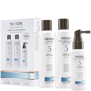 NIOXIN Hair System Kit 05 НАБОР Система 5 (шамп. 150мл + конд. 150мл + маска 50мл)